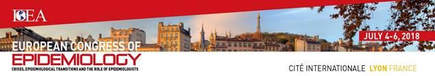 European Congress of Epidemiology 2018. Lione, 4-6 luglio 2018. La deadline è stata posticipata al 12 febbraio